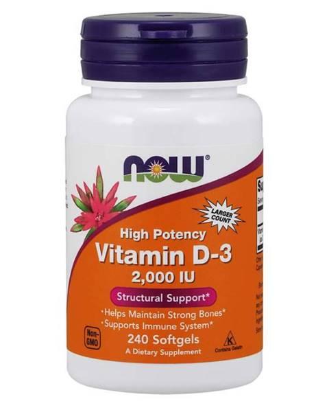 NOW Foods Now Foods Vitamín D3 2000 IU 240 kaps