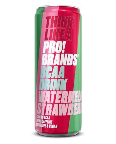ProBrands BCAA Drink 330 ml jahodová malina
