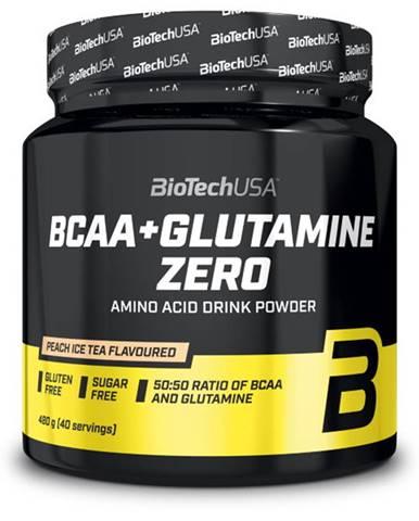 BioTech USA BioTech BCAA + Glutamine Zero 480 g variant: ľadový čaj - broskyňa