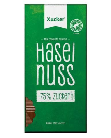Xucker Mliečna čokoláda s lieskovými orieškami 80 g