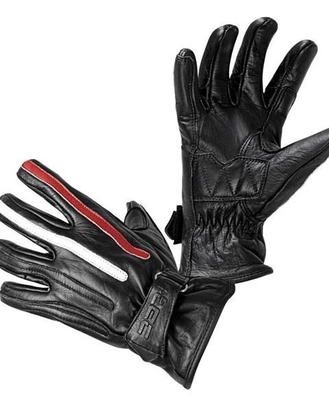 W-Tec Moto rukavice W-TEC Classic Jawa čierna s červeným s béžovým pruhom - S