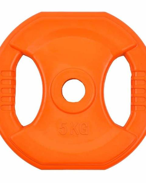 Insportline Hranatý pogumovaný kotúč inSPORTline Pump 5 kg