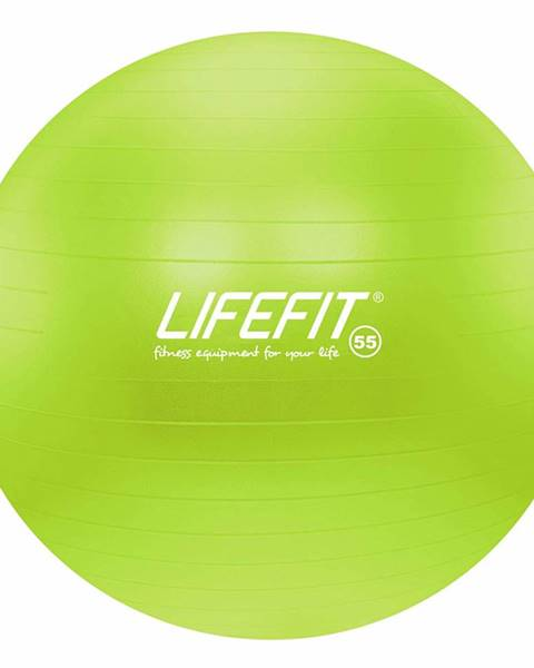 Lifefit Gymnastický míč LIFEFIT ANTI-BURST 55 cm, zelený