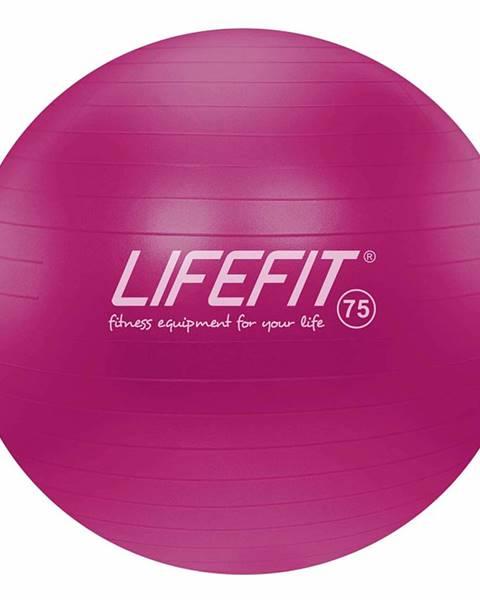 Lifefit Gymnastický míč LIFEFIT ANTI-BURST 75 cm, bordó