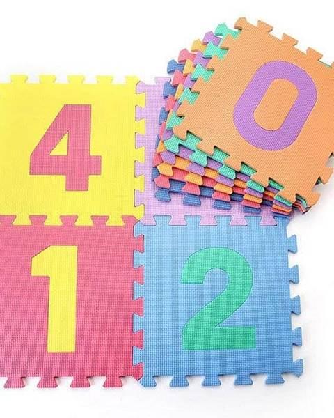 Sedco Dětská hrací podložka s čísly Sedco 30x30x1,2 cm - 10ks