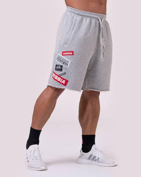 Nebbia NEBBIA Pánske šortky Logo Tapping Grey  M