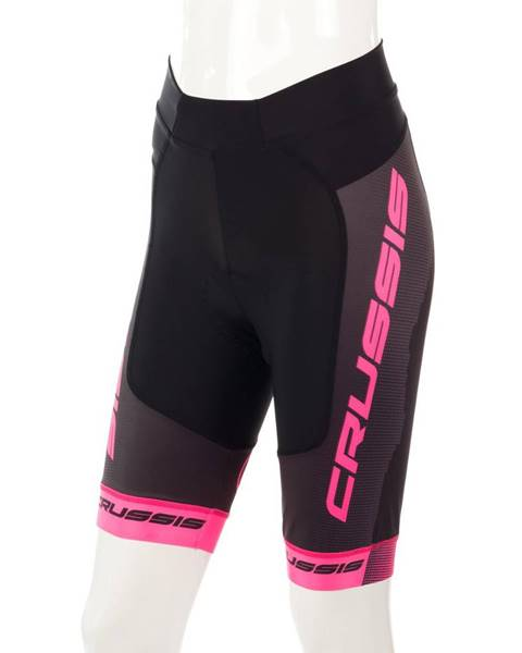 Crussis Dámske cyklistické kraťasy Crussis CSW-069 čierno-ružová - XS