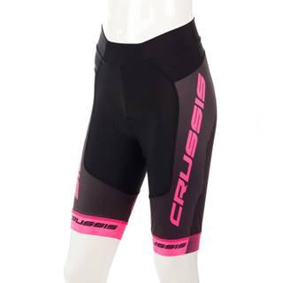 Dámske cyklistické kraťasy Crussis CSW-069 čierno-ružová - XS