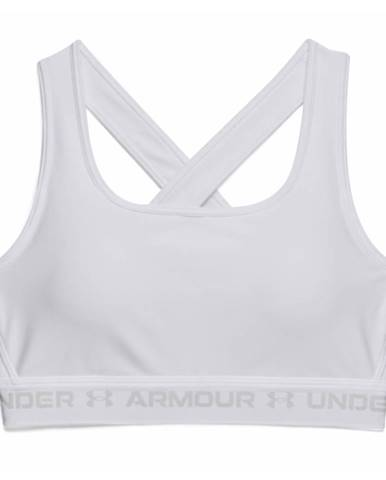 Dámska športová podprsenka Under Armour Crossback Mid Bra White - S
