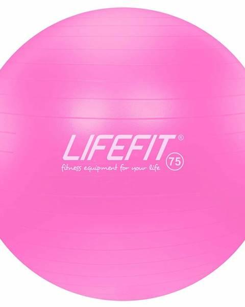 Lifefit Gymnastický míč LIFEFIT ANTI-BURST 75 cm, růžový