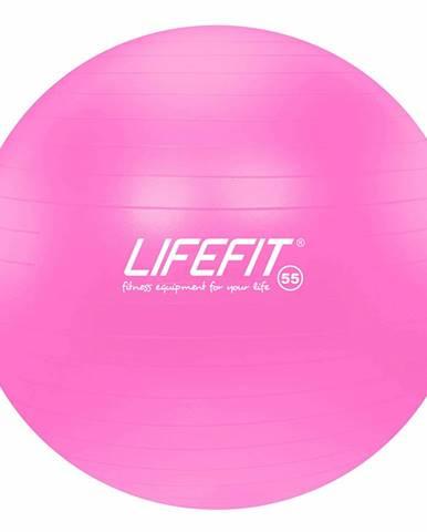 Gymnastický míč LIFEFIT ANTI-BURST 55 cm, růžový