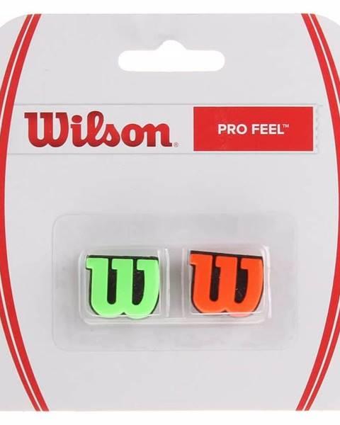 Wilson Pro Feel vibrastop červená-stříbrná Balení: blistr 2 ks