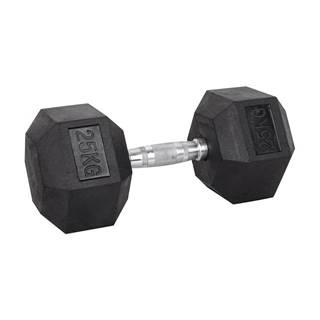 Šesťhranná činka inSPORTline Hexsteel 25 kg