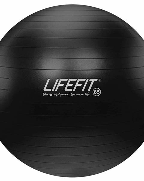 Lifefit Gymnastický míč LIFEFIT ANTI-BURST 65 cm, černý