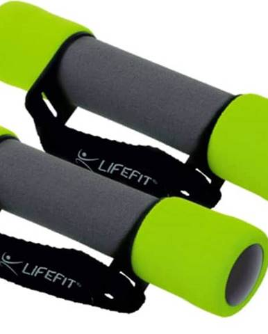 Činky molitanové s páskem LIFEFIT PLUS 2x1,5 kg