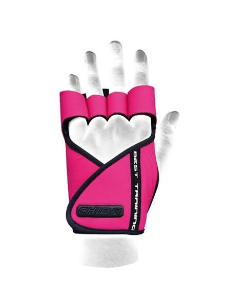 CHIBA Chiba Dámske fitness rukavice Lady Motivation Pink  XS