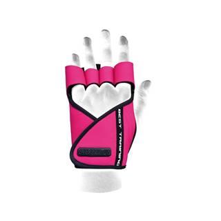 Chiba Dámske fitness rukavice Lady Motivation Pink  XS