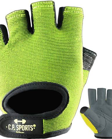 C.P. Sports Fitness rukavice Power neónové  S
