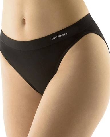 Klasické nohavičky s úzkym bokom EcoBamboo čierna - S/M