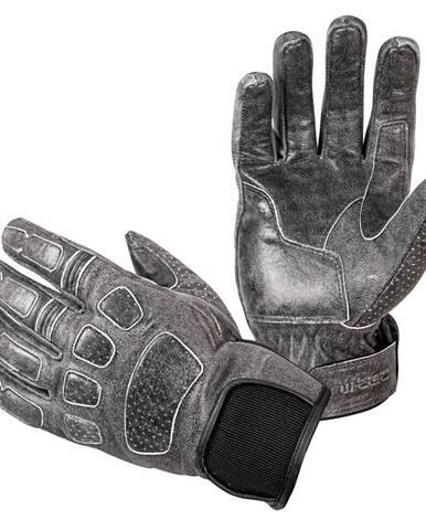 Kožené moto rukavice W-TEC Whacker šedá - S