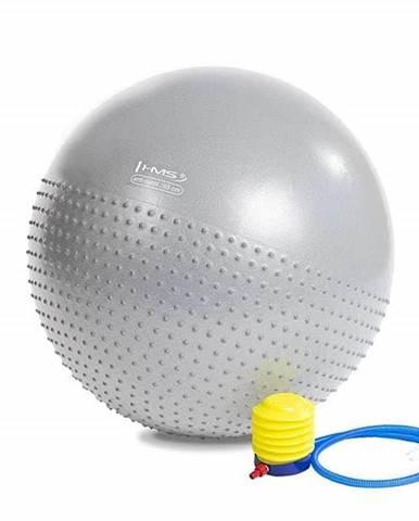 Masážní gymnastický míč HMS YB03 65 cm světle šedý
