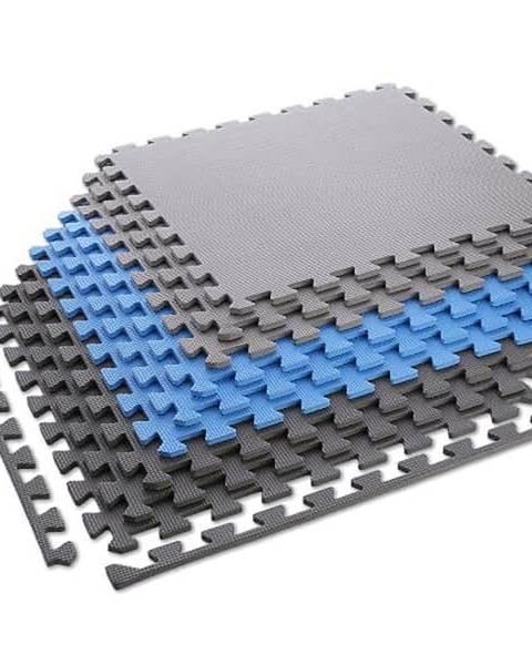 ONE FITNESS Ochranná puzzle podložka ONE FItness MP10 modro-šedá
