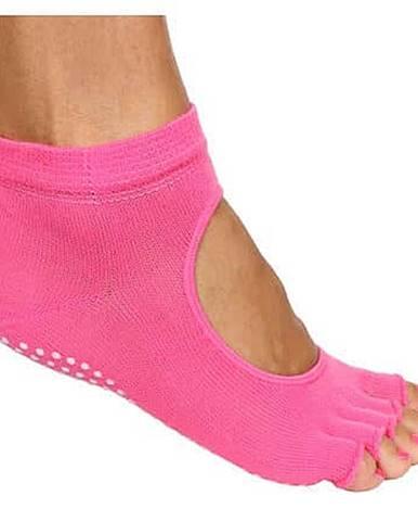 Grippy S2 ponožky na jógu, bezprsté růžová
