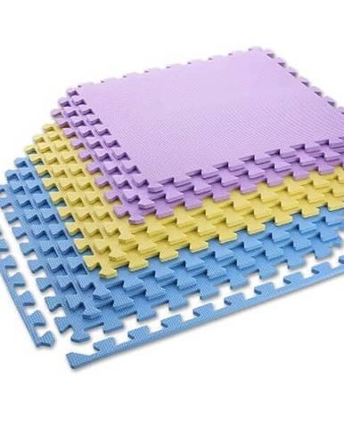 Ochranná puzzle podložka ONE Fitness MP10 žlutá-modrá-fialová