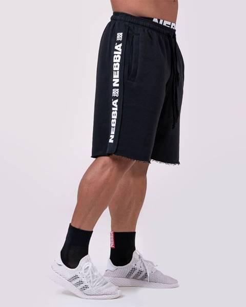 Nebbia NEBBIA Pánske šortky Lampas Black  XL