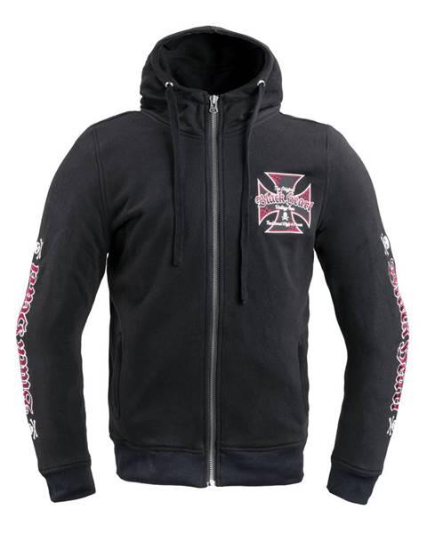 W-Tec Pánska mikina W-TEC Black Heart Vintage Iron Hoodie čierna - S