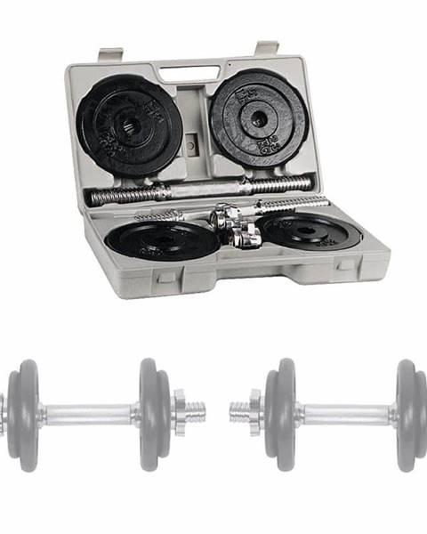 Insportline Jednoručky v kufríku inSPORTline set 2x10 kg