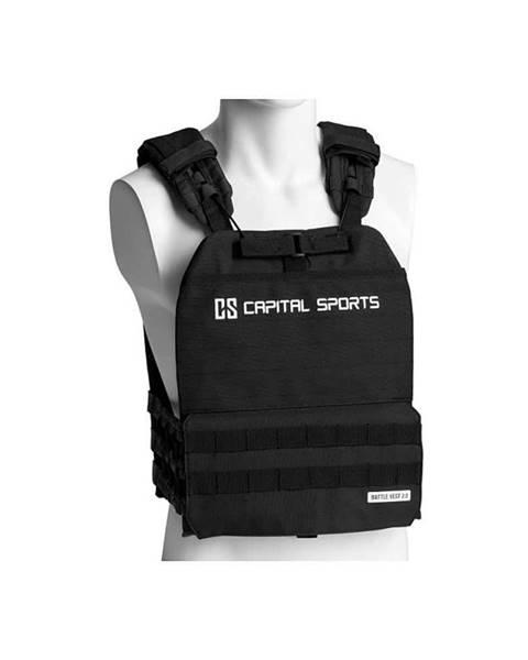 Capital Sports Záťažová vesta Capital Sports Battlevest 2.0 2 x 4 kg - čierna