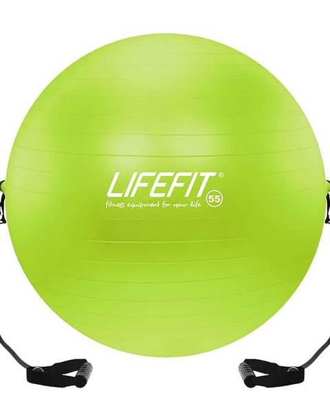 Lifefit Gymnastický míč s expanderem LIFEFIT GYMBALL EXPAND 55 cm