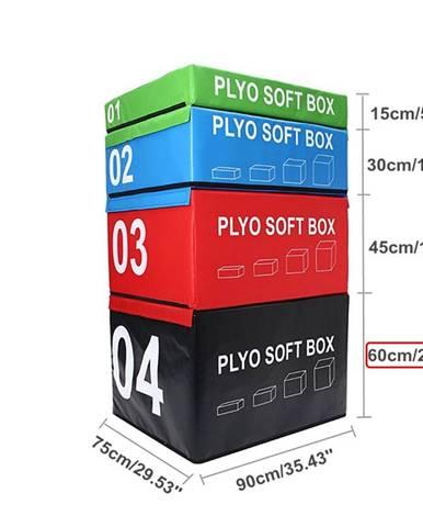 SOFT PLYOBOX SEDCO 90x75x15-60 cm - Černá
