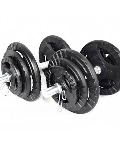Jednoručný nakladací činkový set KAWMET 2x20 kg