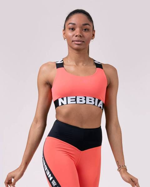 Nebbia NEBBIA Športová podprsenka Power Your Hero Peach  M