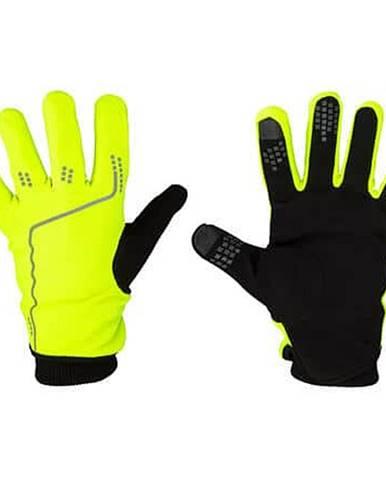 Touchscreen Tip sportovní rukavice žlutá neon Velikost oblečení: S-M