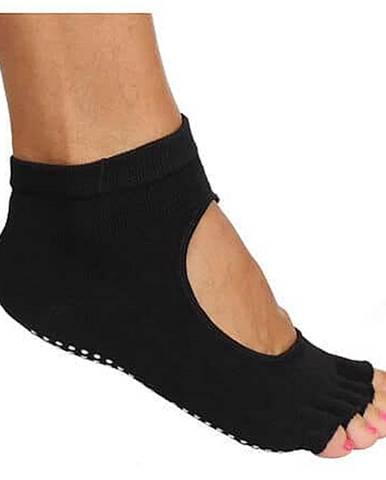Grippy S2 ponožky na jógu, bezprsté černá
