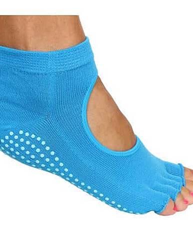 Grippy S2 ponožky na jógu, bezprsté modrá