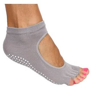Grippy S2 ponožky na jógu, bezprsté šedá