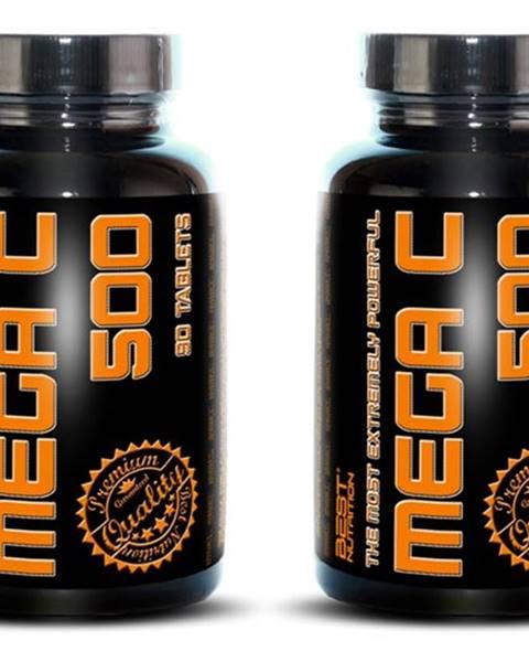 Best Nutrition 1+1 Zadarmo: Mega C 500 + šípky od Best Nutrition 90 tbl. + 90 tbl.