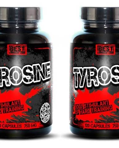 1+1 Zadarmo: Tyrosine od Best Nutrition 120 kaps. +  120 kaps.