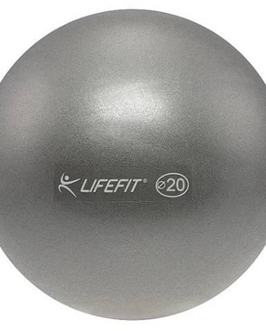 Míč OVERBALL LIFEFIT 20cm, stříbrný