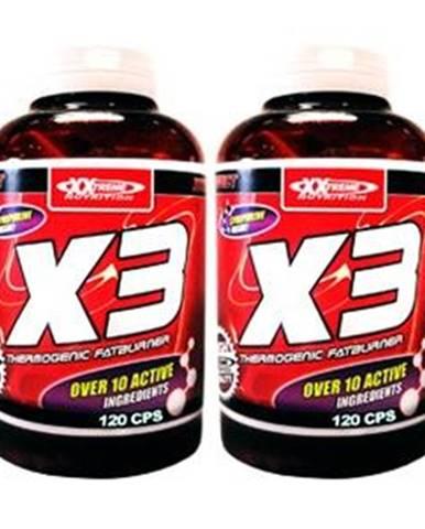 XXTREME NUTRITION X3 Thermogenic Fatburner 120 tabliet 120kps. + 120kps. ZDARMA!