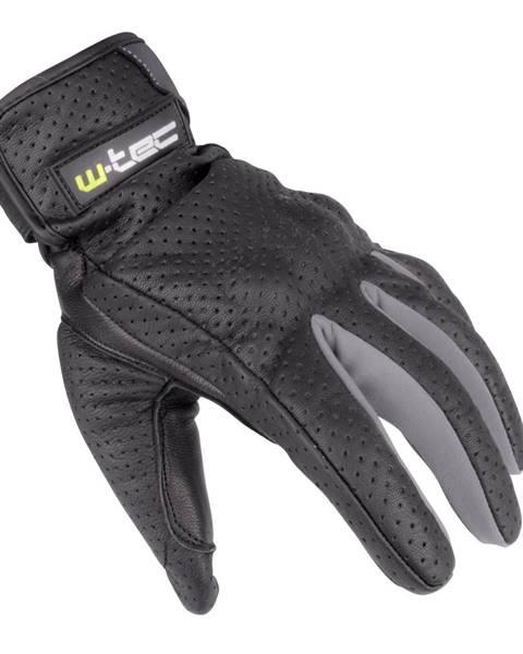W-Tec Letné kožené moto rukavice W-TEC Nyarra NF-4150 šedá - S