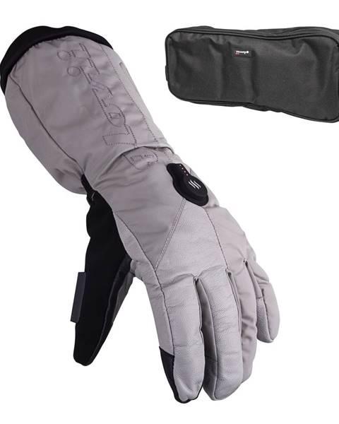 Glovii Vyhrievané lyžiarske a moto rukavice Glovii GS8 šedá - S