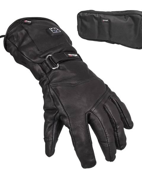 Glovii Kožené vyhrievané lyžiarske a moto rukavice Glovii GS5 čierna - L