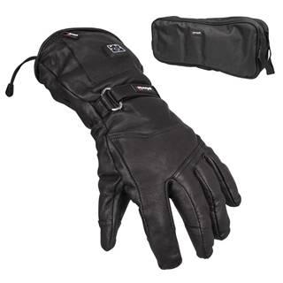 Kožené vyhrievané lyžiarske a moto rukavice Glovii GS5 čierna - L