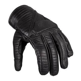 Kožené moto rukavice W-TEC Brillanta čierna - S
