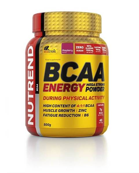 Nutrend Energetická zmes Nutrend BCAA Energy Mega Strong Powder 500g malina